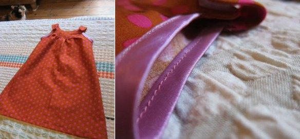 Polka-dot baby dress