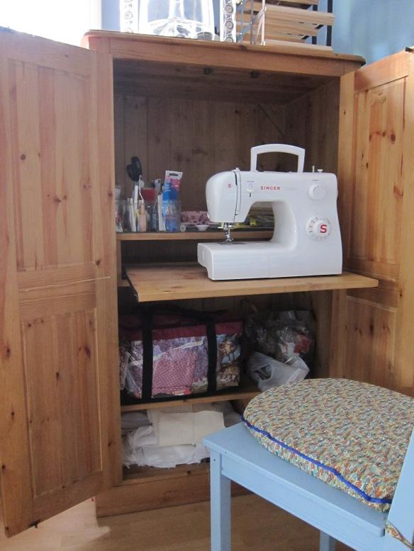 Tidied sewing cupboard