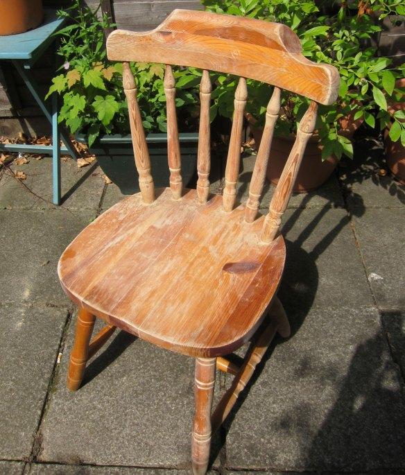 Chair that's seen better days