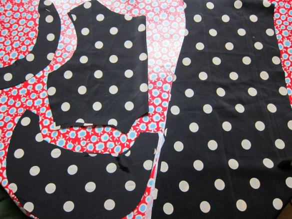 Pieces for a new polka dot shift dress