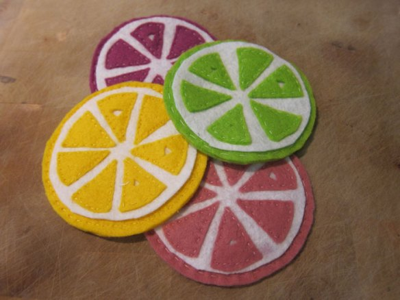 Even more felt coasters!