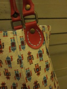 Robot bag - red handles