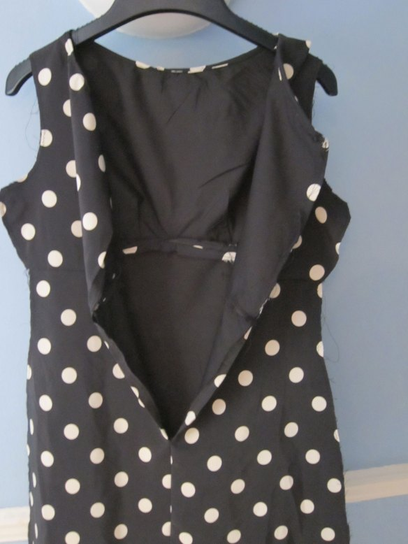 Polka-dot back view