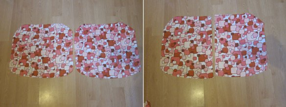 Creating envelope fabric pieces