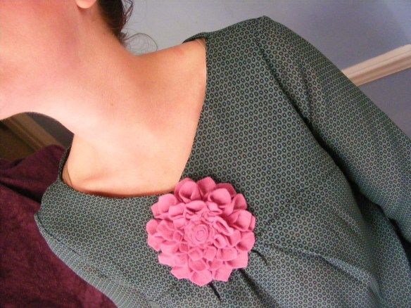Smock top in green