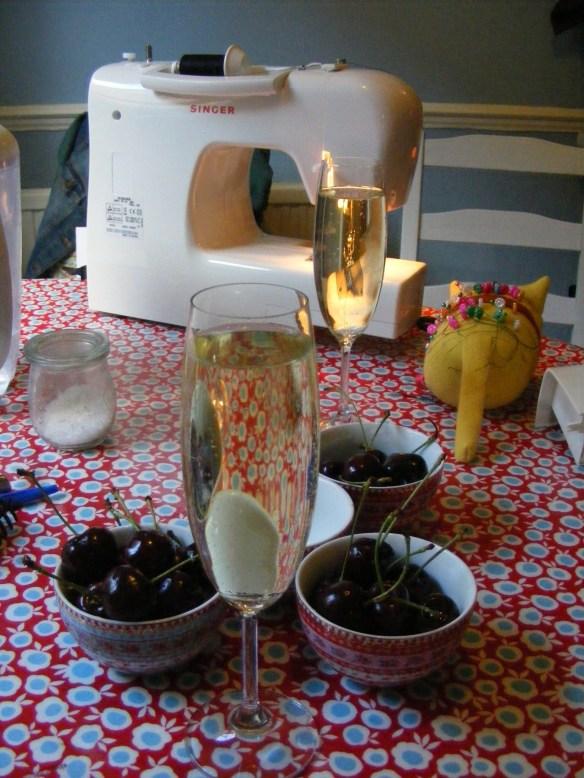Cherries and cava