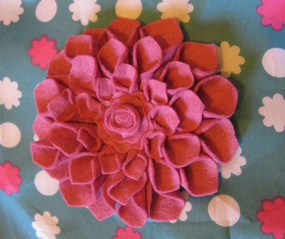 The abundant felt corsage