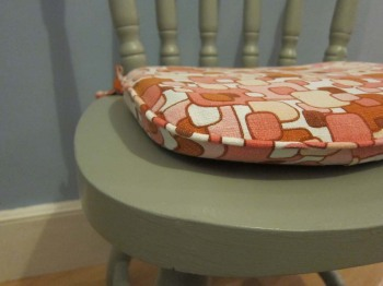 How to make a seat pad cover with piping and ties