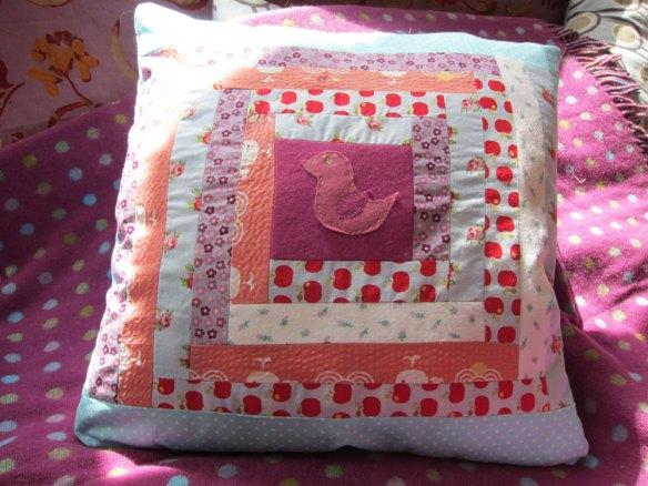 Hannah's patchwork cushion