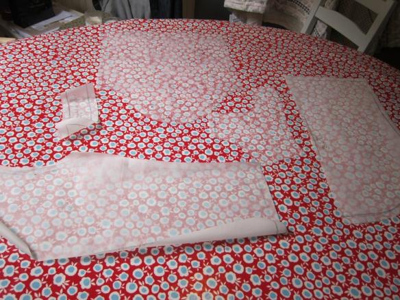 Polka dot top pattern pieces