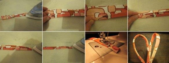 Making the seat pad ties