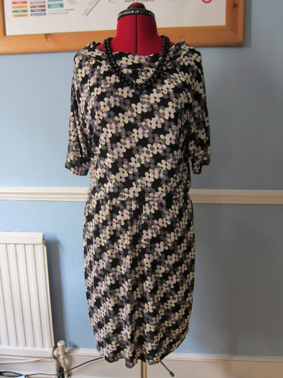 Slouchy autumn berries dress
