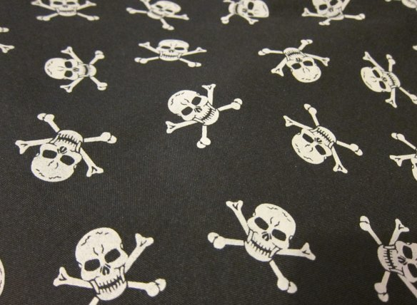 Skulls canvas fabric