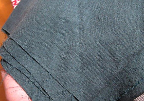 Green charity shop fabric