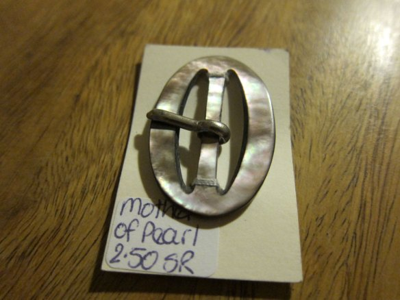 Vintage mother of pearl buckle