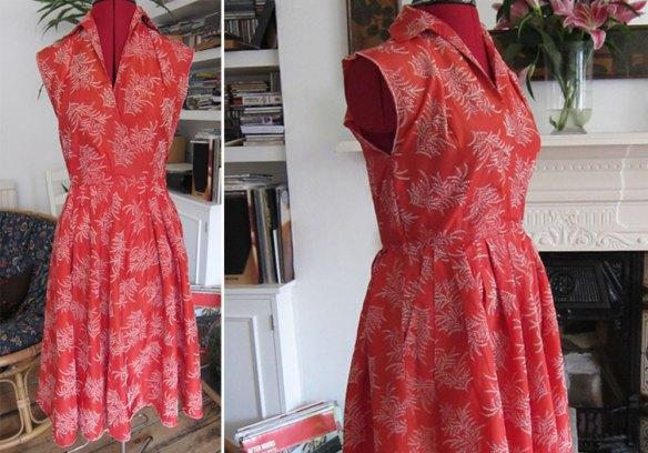 Scarlet fifties dress