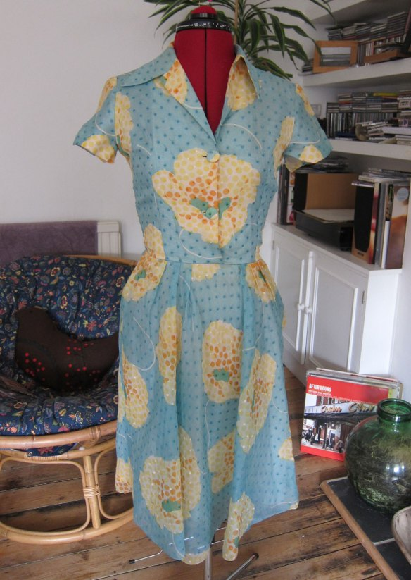 Fifties-style handmade dress