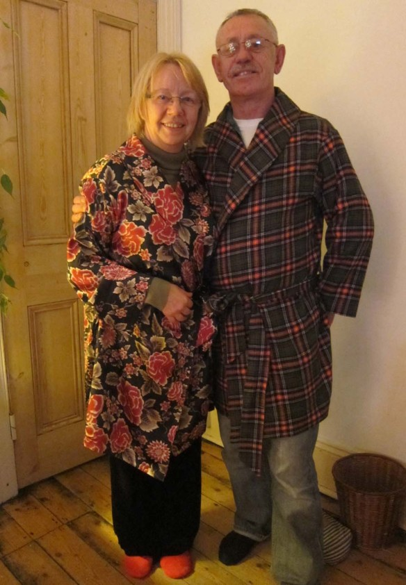 Ann and Dale in their dressing gowns!
