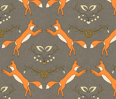Foxen by Holli Zollinger (Spoonflower)