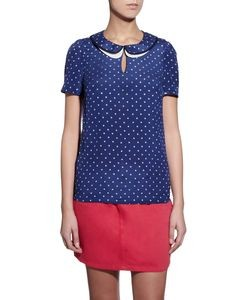 Edie Silk Star Print Blouse