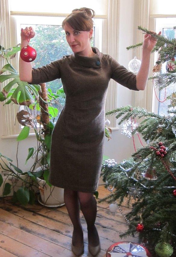 Holloway at the Christmas tree