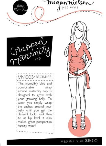 Megan Nielsen Maternity top