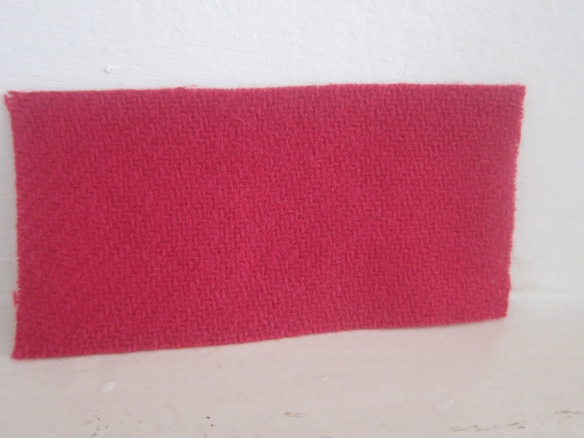 Pure wool coating - Magenta (£15.50 per metre)