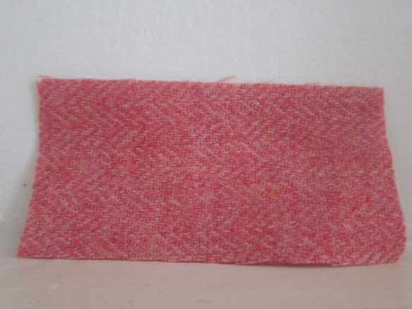 Pure wool coating - Coral Herringbone (£15.50 per metre)