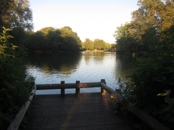 Alexandra Palace duck pond